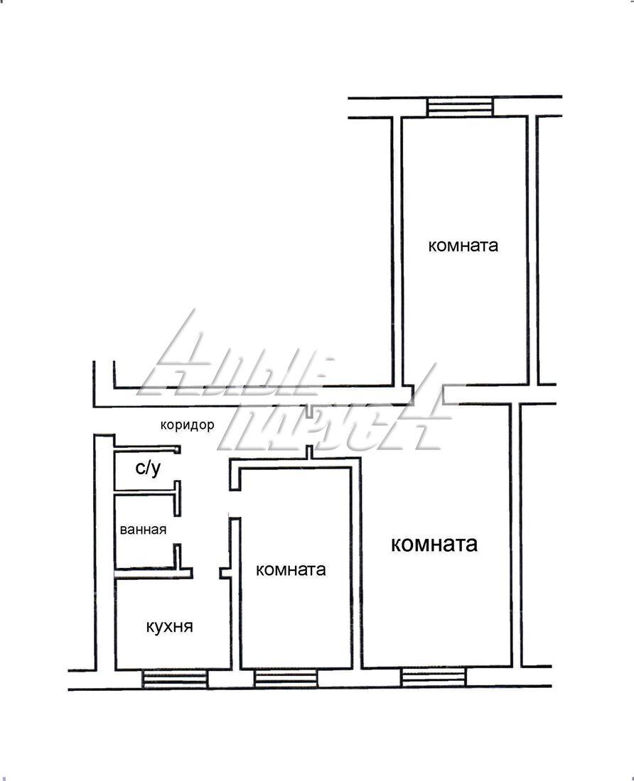 Квартира на продажу по адресу Россия, Омская область, Тюкалинский, Тюкалинск, ул Луначарского, д. 67
