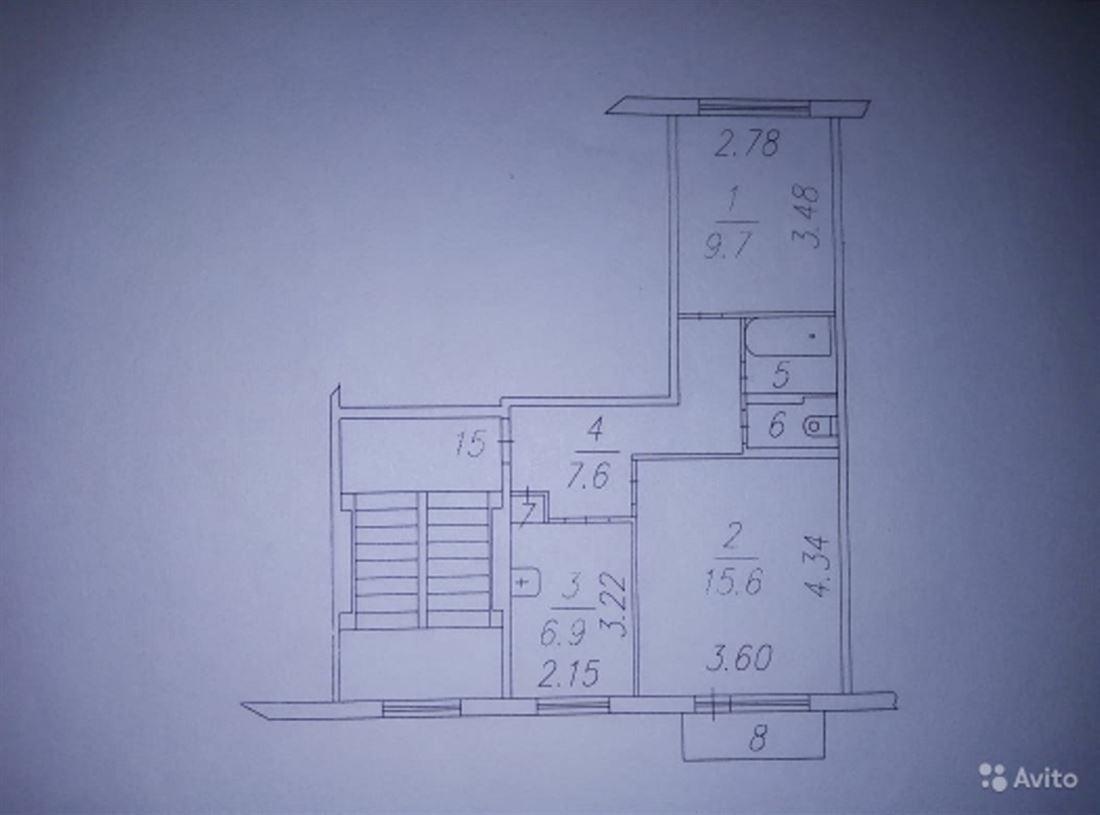 Квартира на продажу по адресу Россия, Новосибирская область, Искитимский, Линево, б-р Ветеранов Войны, д. 17